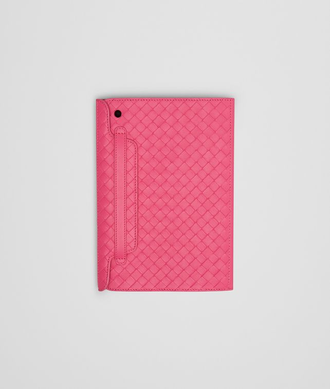 Rosa Shock Intrecciato Nappa Mini iPad Case