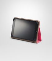 CUSTODIA PER IPAD MINI ROSA SHOCK IN NAPPA INTRECCIATA