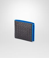 Nero Signal Blue Intrecciato Washed Vintage Wallet