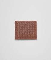 Edoardo Burnt Red Intrecciato Washed Vintage Wallet