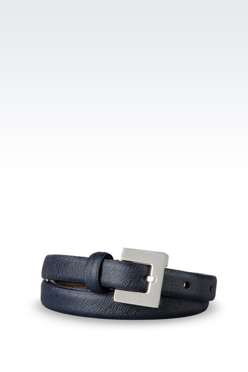 BELT IN PRINTED CALFSKIN: Leather belts Women by Armani - 1