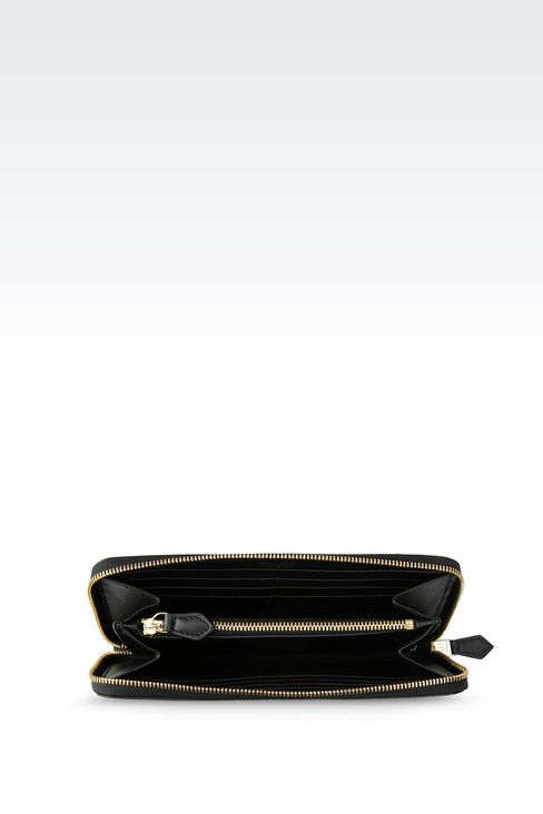 ZIP AROUND WALLET IN CALFSKIN: Wallets Women by Armani - 3