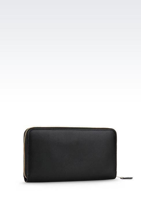 ZIP AROUND WALLET IN CALFSKIN: Wallets Women by Armani - 2