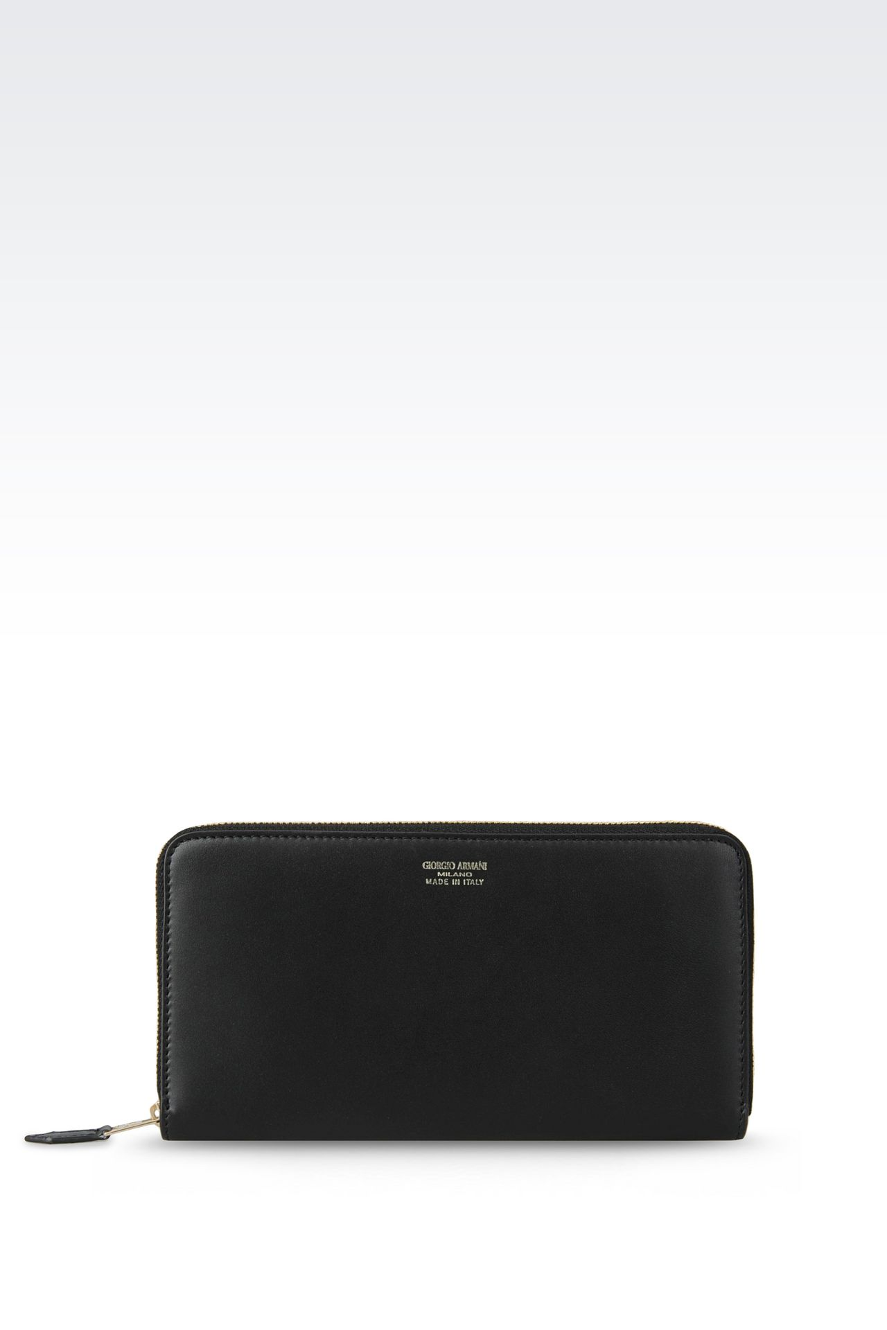 ZIP AROUND WALLET IN CALFSKIN: Wallets Women by Armani - 0