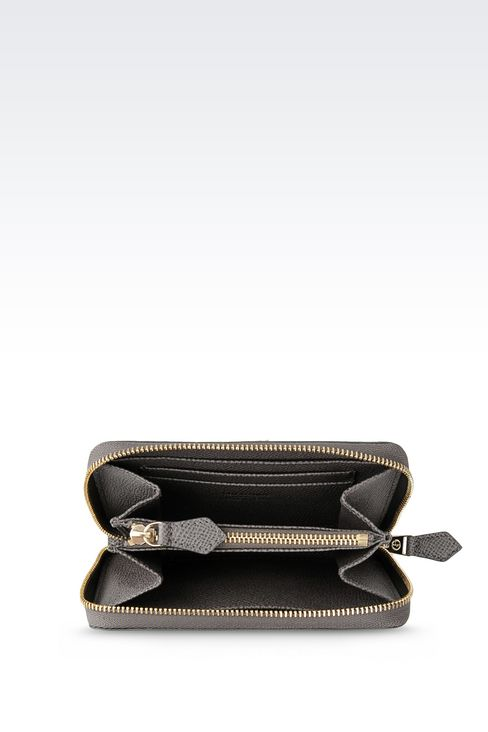 ZIP AROUND WALLET IN PRINTED CALFSKIN: Wallets Women by Armani - 3
