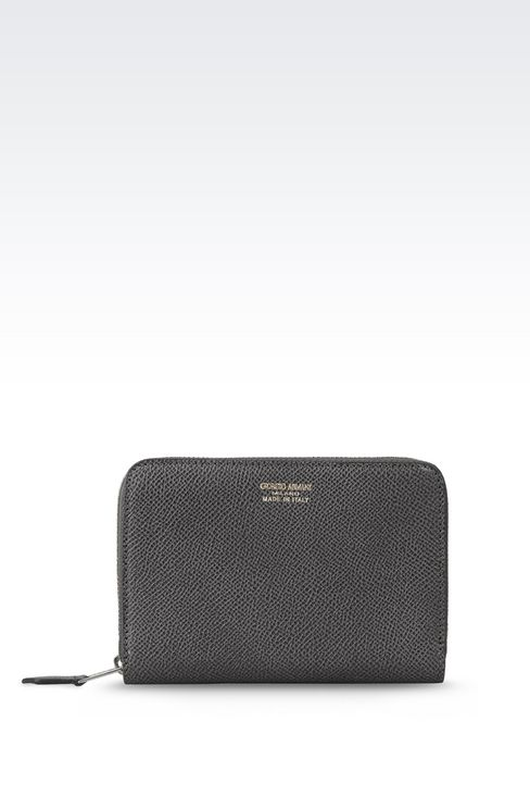 ZIP AROUND WALLET IN PRINTED CALFSKIN: Wallets Women by Armani - 1