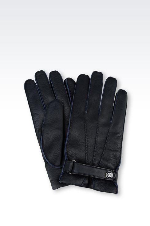 DEERSKIN GLOVE: Gloves Men by Armani - 1
