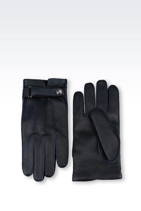 DEERSKIN GLOVE: Gloves Men by Armani - 2