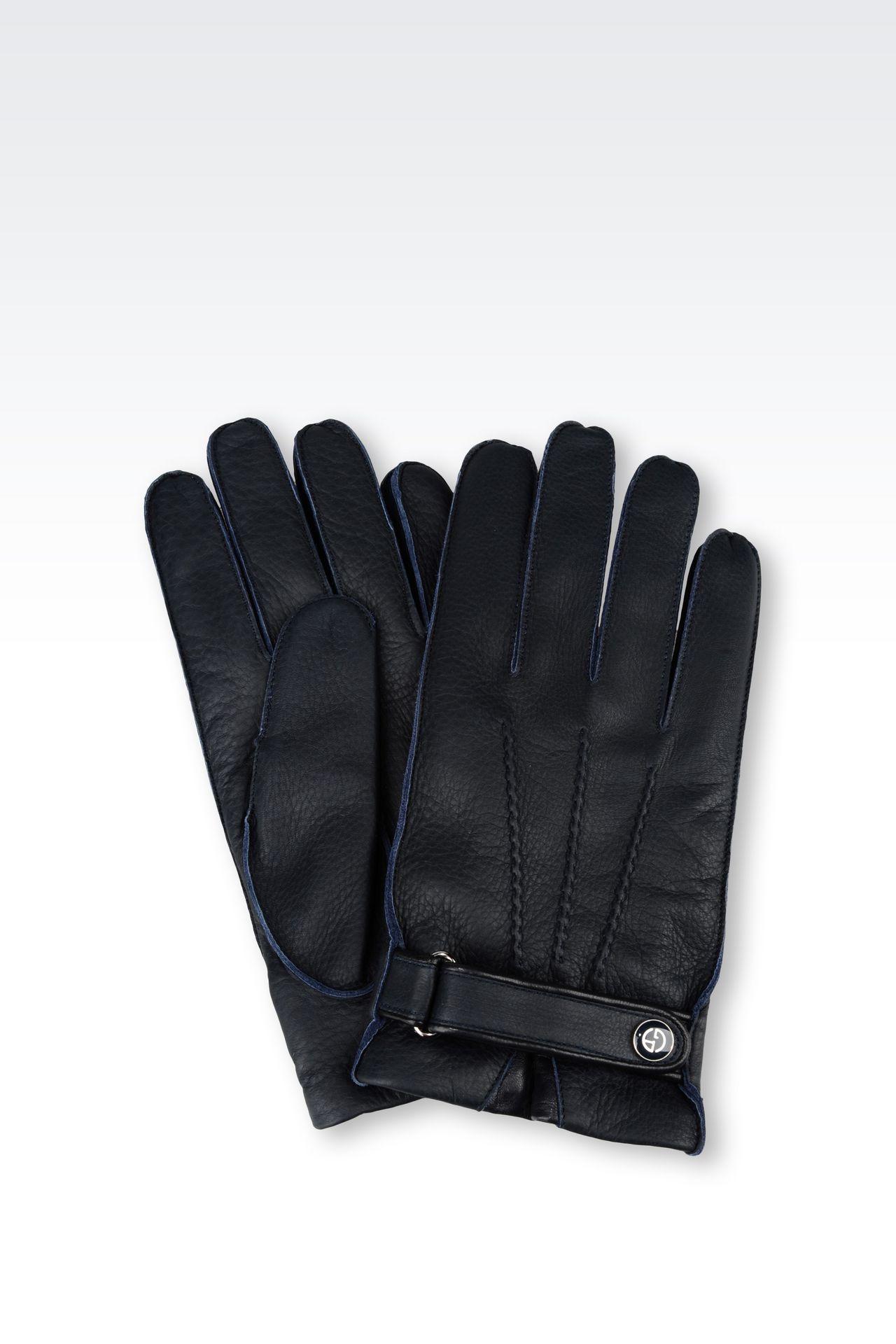 DEERSKIN GLOVE: Gloves Men by Armani - 0