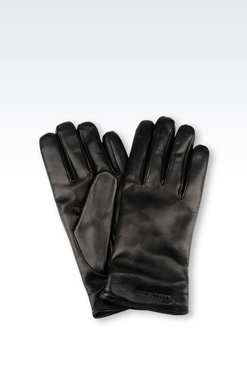 NAPA LEATHER GLOVE: Gloves Men by Armani - 1