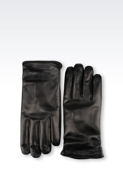 NAPA LEATHER GLOVE: Gloves Men by Armani - 2