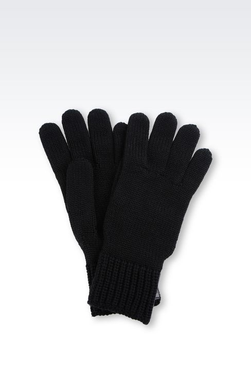 WOOL GLOVE: Gloves Men by Armani - 1