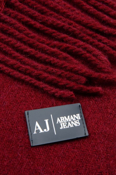 WOOL SCARF: Scarves Men by Armani - 3