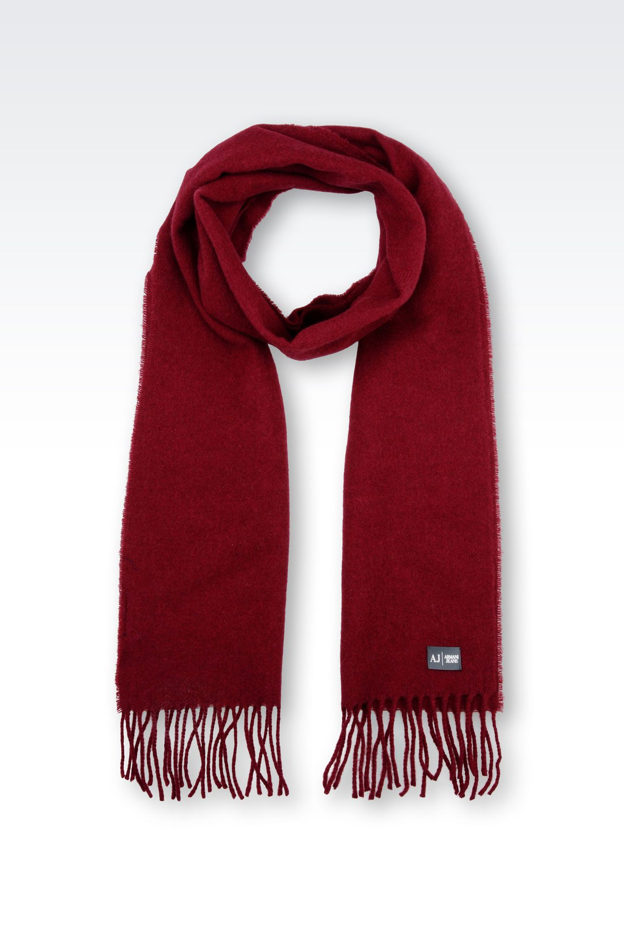 WOOL SCARF: Scarves Men by Armani - 0