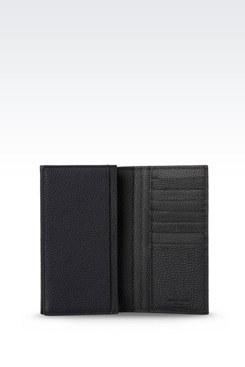 YEN WALLET IN TUMBLED CALFSKIN: Wallets Men by Armani - 3