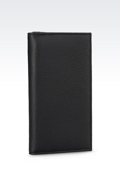 YEN WALLET IN TUMBLED CALFSKIN: Wallets Men by Armani - 2
