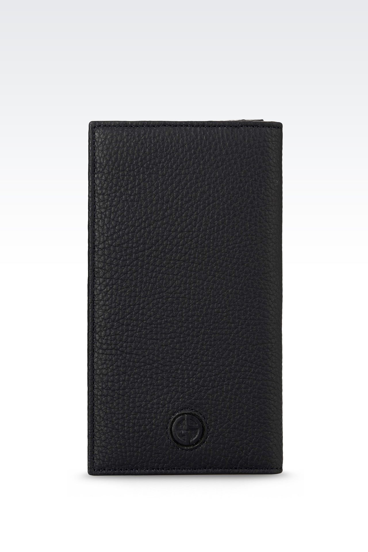 YEN WALLET IN TUMBLED CALFSKIN: Wallets Men by Armani - 0