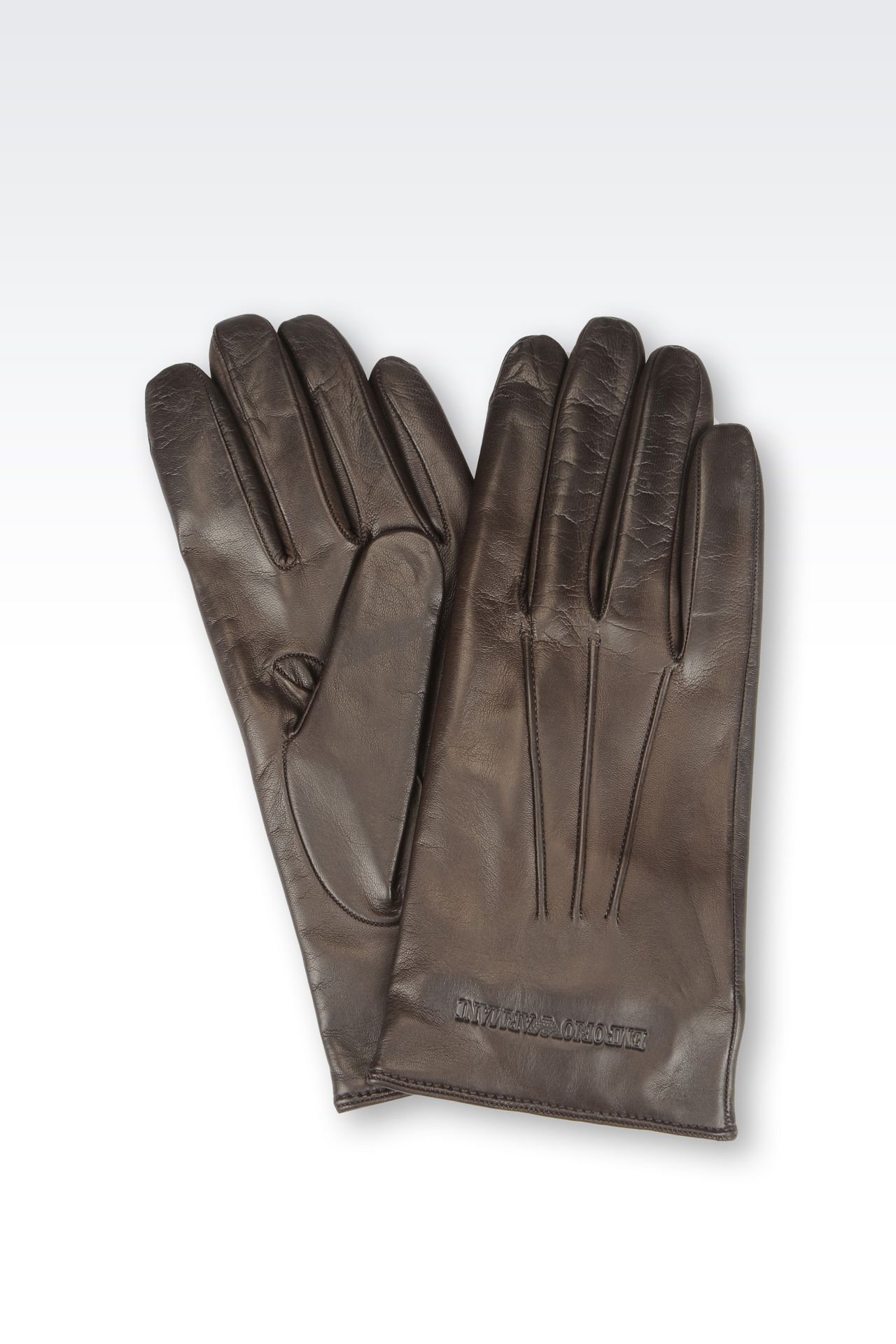 Armani exchange black leather gloves - Napa Leather Glove Gloves Men By Armani 0