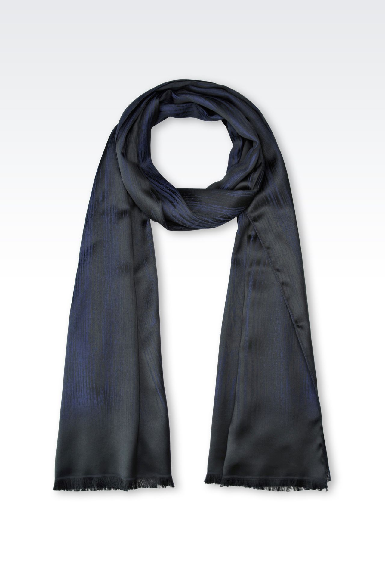 SCARF IN VISCOSE BLEND: Stoles Men by Armani - 0