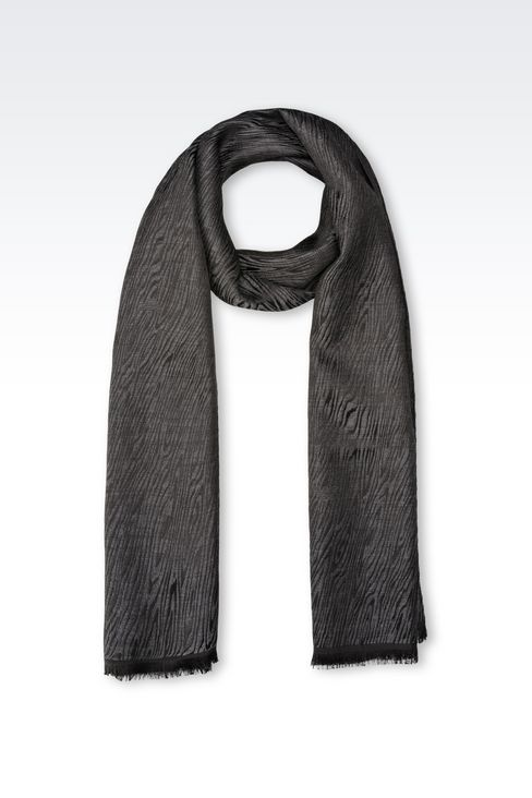 SCARF IN WOOL AND SILK: Scarves Men by Armani - 1