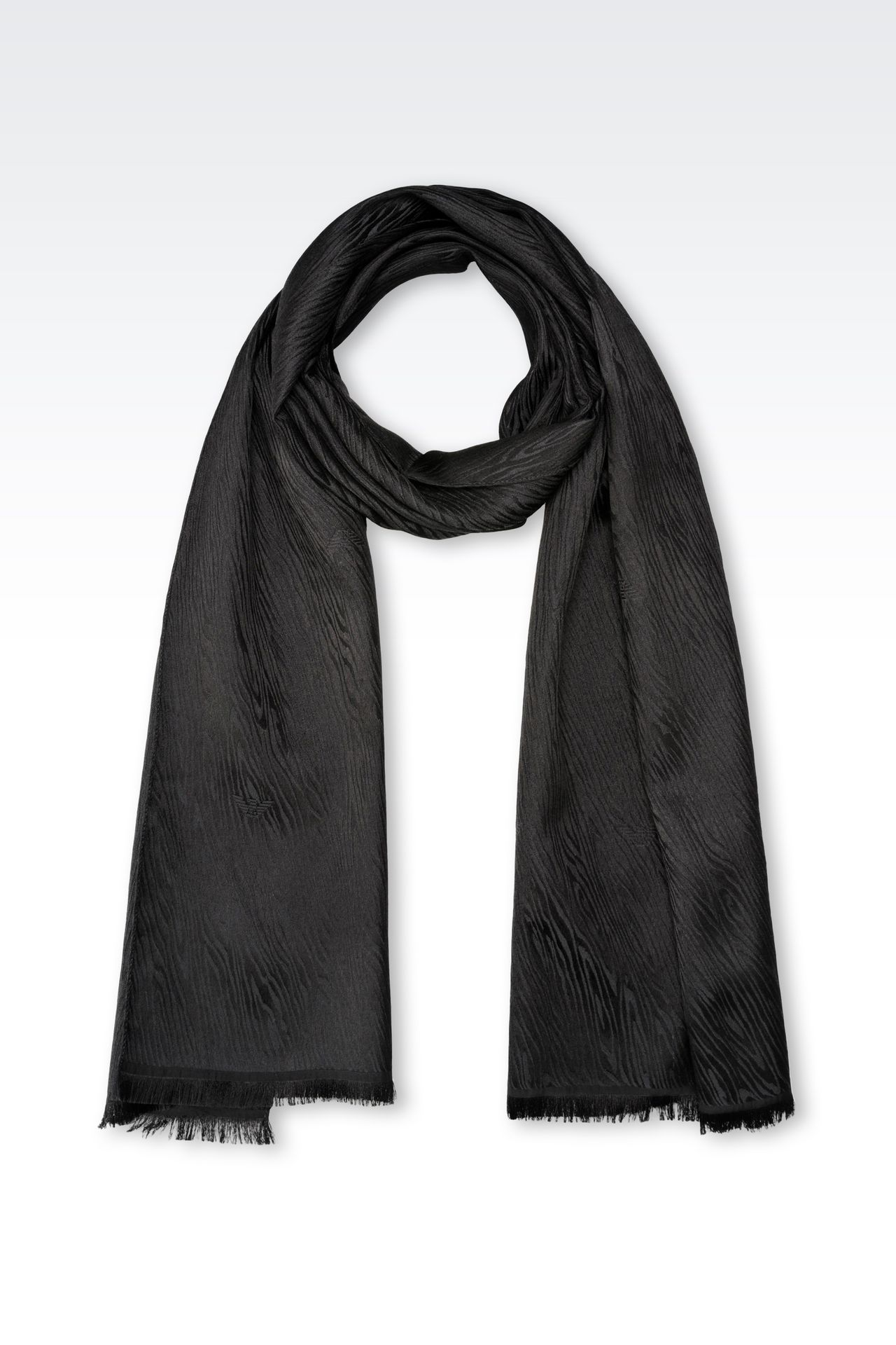 SCARF IN WOOL AND SILK: Scarves Men by Armani - 0