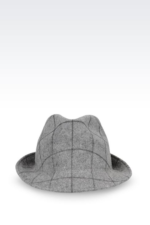CLASSIC HAT IN PRINTED FELT: Hats Women by Armani - 1