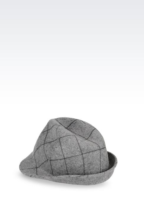 CLASSIC HAT IN PRINTED FELT: Hats Women by Armani - 2