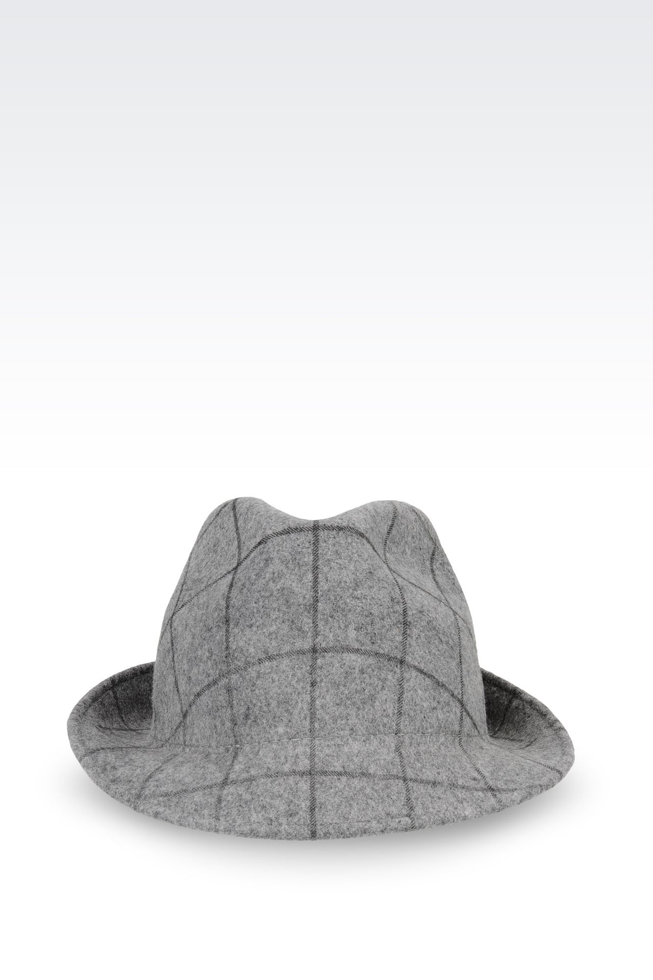 CLASSIC HAT IN PRINTED FELT: Hats Women by Armani - 0