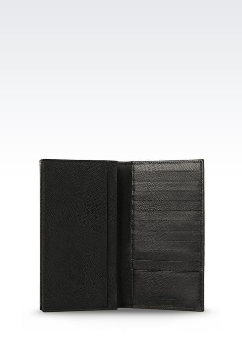 YEN WALLET IN SAFFIANO CALFSKIN: Wallets Men by Armani - 3