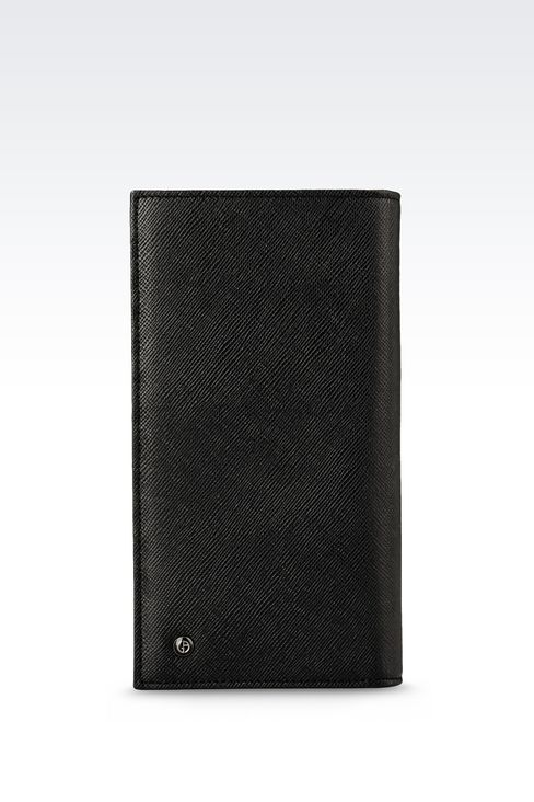 YEN WALLET IN SAFFIANO CALFSKIN: Wallets Men by Armani - 1