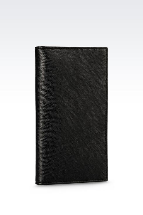 YEN WALLET IN SAFFIANO CALFSKIN: Wallets Men by Armani - 2