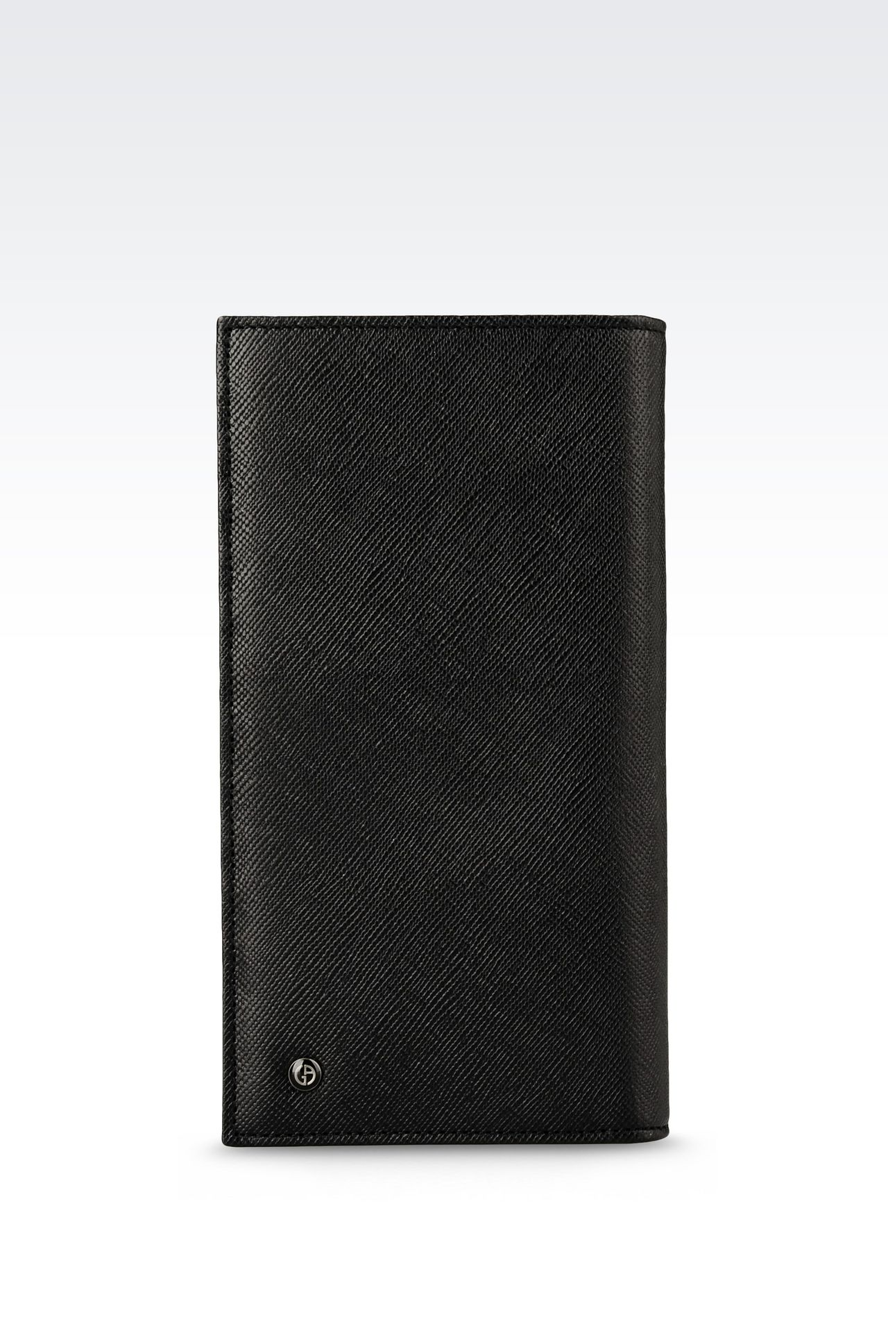 YEN WALLET IN SAFFIANO CALFSKIN: Wallets Men by Armani - 0