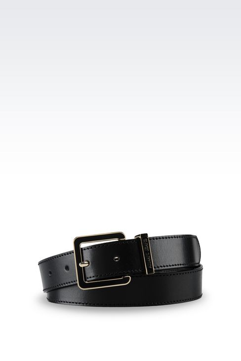 SMOOTH LEATHER BELT: Textile belts Women by Armani - 1