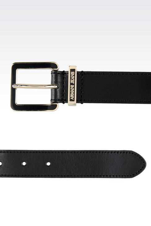 SMOOTH LEATHER BELT: Textile belts Women by Armani - 2