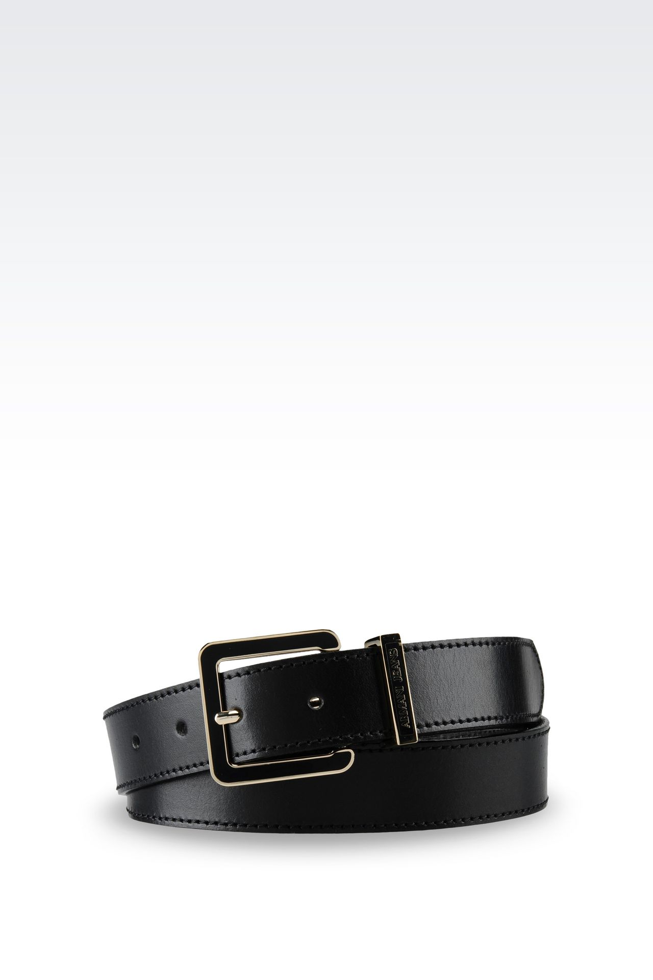 SMOOTH LEATHER BELT: Textile belts Women by Armani - 0