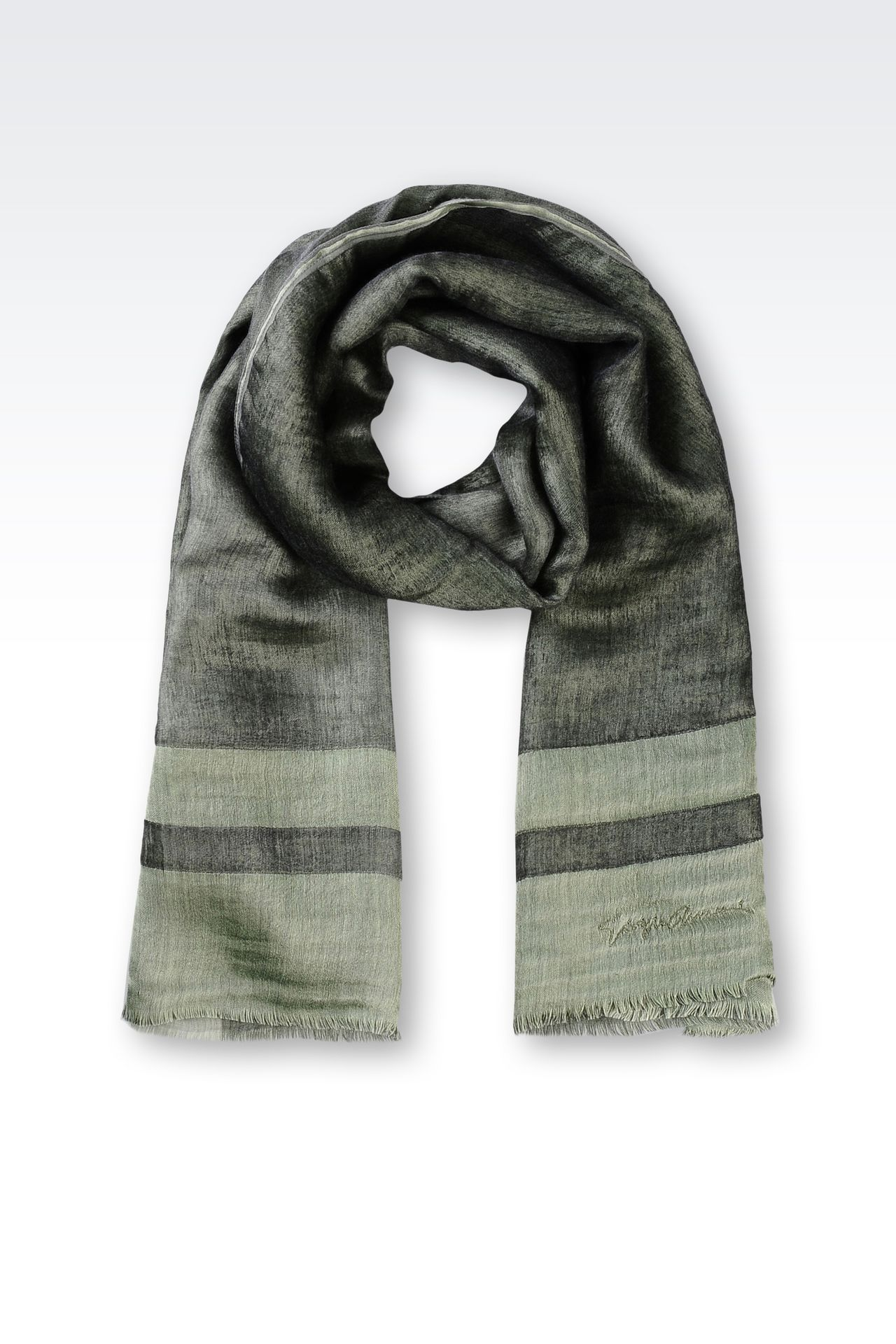 WRAP IN SILK AND CASHMERE: Stoles Women by Armani - 0