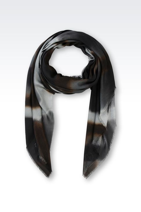 SCARF IN MODAL AND CASHMERE: Foulards Men by Armani - 1