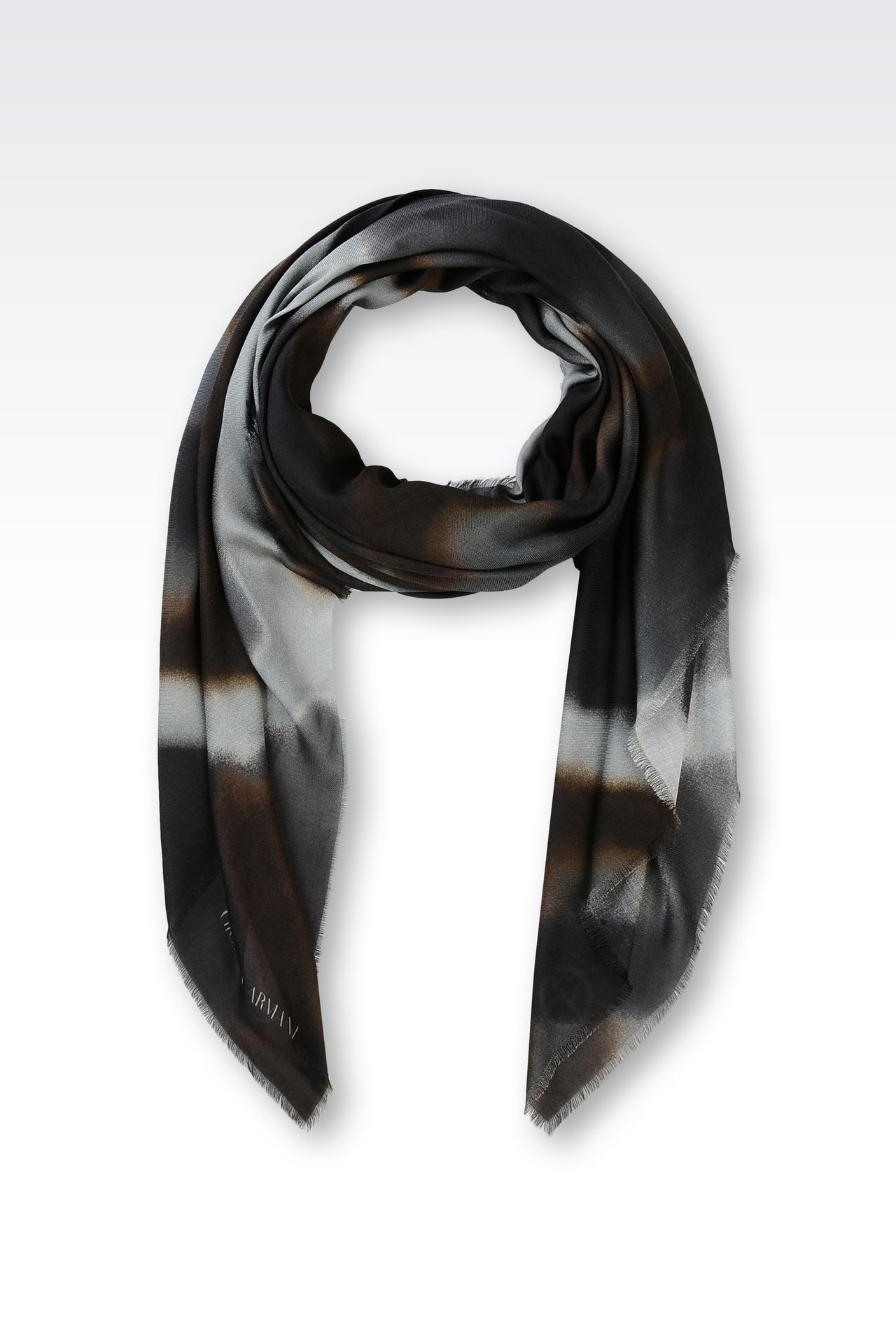 SCARF IN MODAL AND CASHMERE: Foulards Men by Armani - 0