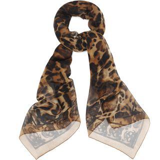ALEXANDER MCQUEEN, Silk Fashion Scarf, Animalier Silk Skull Scarf