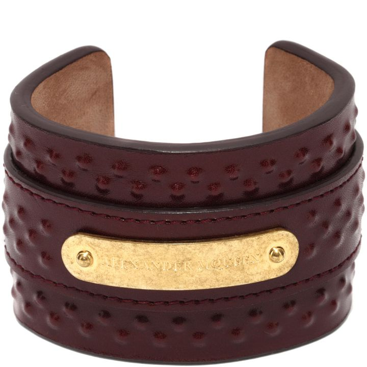 Alexander McQueen, Covered Stud Leather Cuff