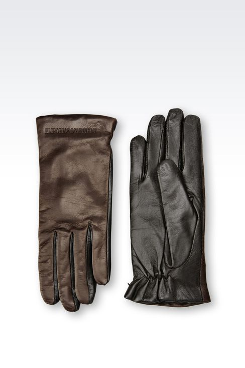 NAPA LEATHER GLOVE: Gloves Women by Armani - 2