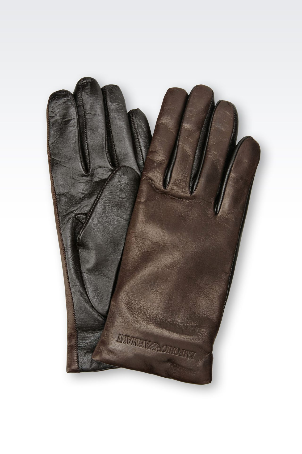NAPA LEATHER GLOVE: Gloves Women by Armani - 0