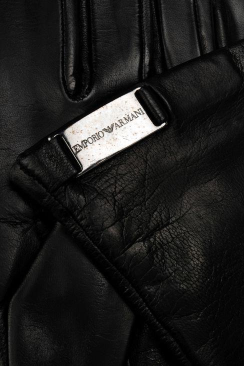 LONG NAPA LEATHER GLOVE: Gloves Women by Armani - 3
