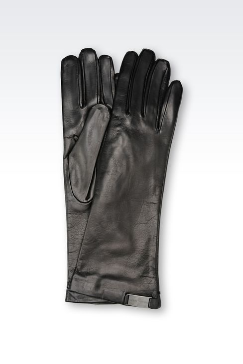 LONG NAPA LEATHER GLOVE: Gloves Women by Armani - 1
