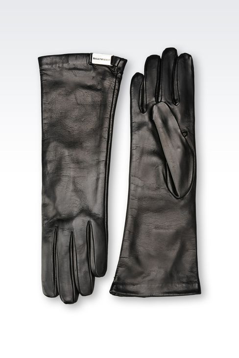 LONG NAPA LEATHER GLOVE: Gloves Women by Armani - 2