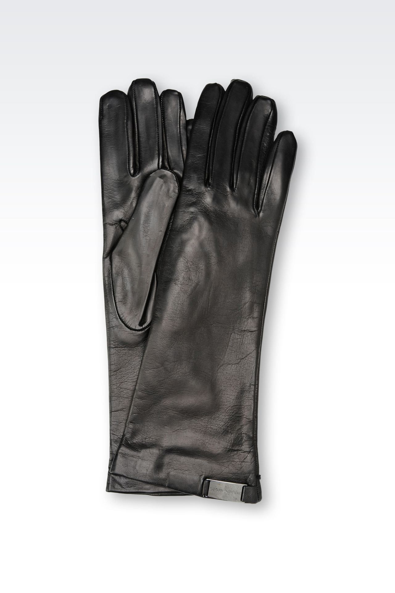 LONG NAPA LEATHER GLOVE: Gloves Women by Armani - 0