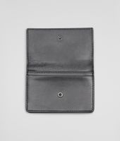 NEW LIGHT GREY Intreccio Scolpito Spazzolato CARD CASE