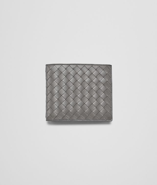 BOTTEGA VENETA Medium Grey Intrecciato Vachette Wallet Bi-fold Wallet U fp