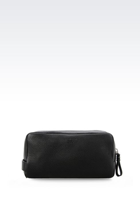 BEAUTY CASE IN PRINTED CALFSKIN: Beauty cases Men by Armani - 1