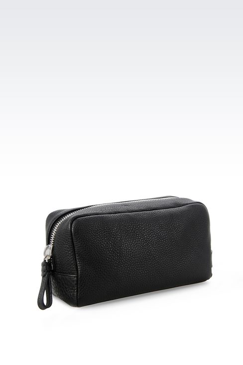 BEAUTY CASE IN PRINTED CALFSKIN: Beauty cases Men by Armani - 2